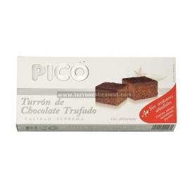 """Turrón de chocolate trufado sin azúcar añadido """"Picó"""" 200 gr."""
