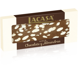 """Turrón de Chocolate y Almendras """"LACASA"""" 250 gr"""