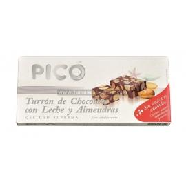 """Torrone Cioccolato al Latte con Mandorle senza zuccheri aggiunti """"Picó"""" 200 gr."""