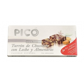 """Turrón de Chocolate con Leche y Almendras Sin Azúcares Añadidos """"Picó"""" 200 gr."""