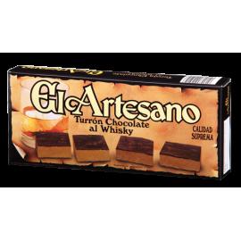 """Turrón chocolate al whisky """"El Artesano"""" 200 gr."""