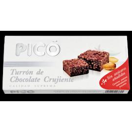 """Torrone al cioccolato croccante senza zucchero """"Picó"""" 200 gr."""