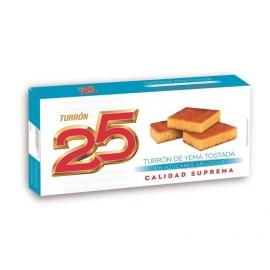 """Nougat jaune grillé sans sucres ajoutés """"25"""" 200 gr."""