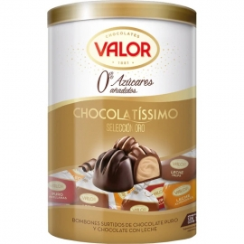 "Assorted Chocolates 0% Added Sugars ""Valor"" 250 gr."