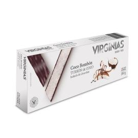 Torrone al cioccolato al cocco Virginias 200 gr.