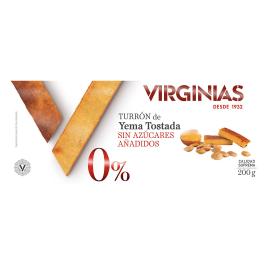 """Turrón Yema Tostada Sin Azúcares """"Virginias"""" 200 gr."""