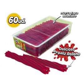 "Torcidas regaliz roja rellenas Jelly ""Fini"""