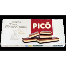 """Nougat de 3 chocolats """"Picó"""" 200 gr."""