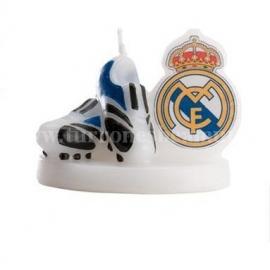 """Vela de Cumpleaños """"Botas del Real Madrid"""""""