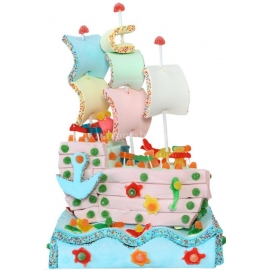 """Torta di Nuvole """"Nave Pirata"""" Serie 2000"""